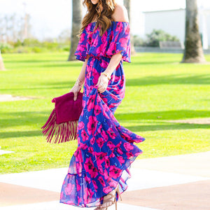 Maya off shoulder Maxi Dress