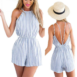 Sexy Clubwear Halter Backless Playsuit