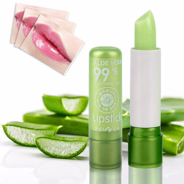 5 pcs Portable Natural Plant Aloe Gel Lip Balm