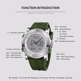 OLIVE Men's Sports Watches Digital Quartz