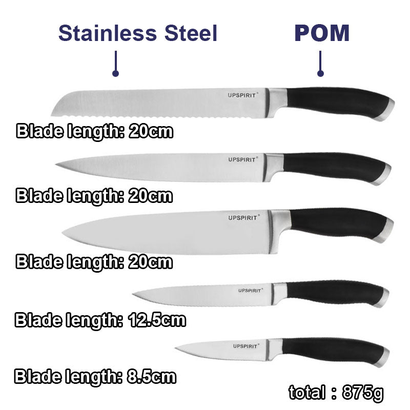 Black Handle Bread Chef Knives Slicing