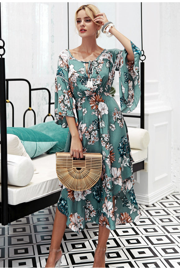 Abby Floral boho long dress