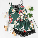 Garden Satin Pajama Set