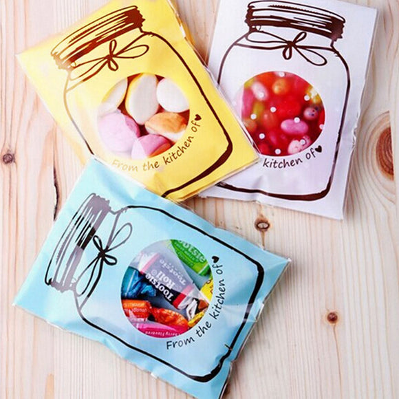 50Pcs/lot 7*10cm  fresh candy jar biscuit bag Snack Food