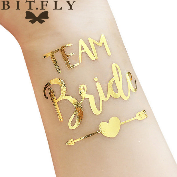10pc Bride Team Bridesmaid team temporary tattoo