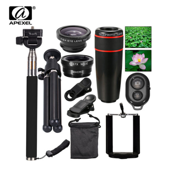 Mega All in 1 Accessories Phone Camera Lens Top Travel Kit