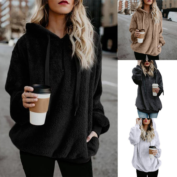 Leysi Hooded Sweatshirt Coat