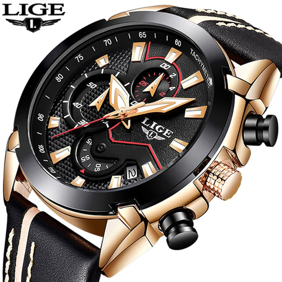 Gary Watches Mens Leather Sport