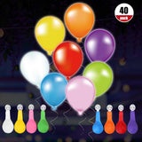 40pcs Colorful LED Balloon