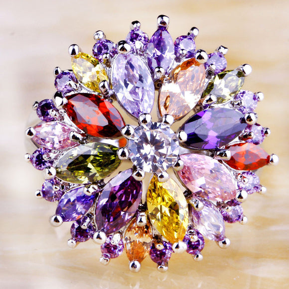 Rainbow of flowers Ring