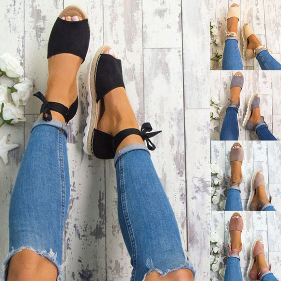 Open Toe Bandage Flat Sandals