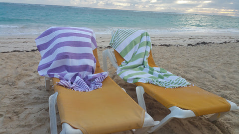 InfuseZen Turkish Bath Towel at Beach