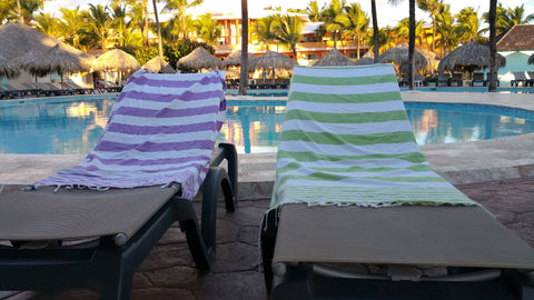 InfuseZen Bath Towels at Pool