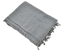 Load image into Gallery viewer, Faded Black Stonewashed Turkish Throw Blanket