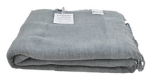 Load image into Gallery viewer, Denim Blue/Grey Stonewashed Turkish Throw Blanket