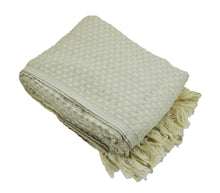 Load image into Gallery viewer, Beige and Cream Turkish Throw Blanket