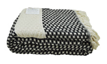 Load image into Gallery viewer, Black and Cream Turkish Throw Blanket