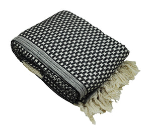 Black and Cream Turkish Throw Blanket