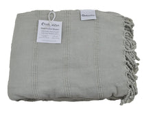 Load image into Gallery viewer, Large Beige Stonewashed Thin Turkish Throw Blanket