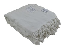 Load image into Gallery viewer, Large 'Almost White' Stonewashed Thin Turkish Throw Blanket