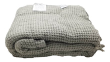 Load image into Gallery viewer, Beige Waffle Stonewashed Thin Turkish Throw Blanket