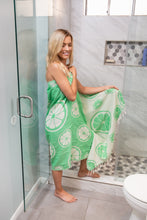 Load image into Gallery viewer, Lime Print Reversible Turkish Towel – 100% Cotton Towel