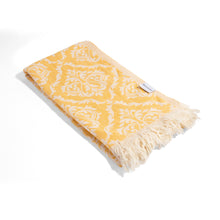Load image into Gallery viewer, Golden Damask Turkish Towel Beach or Bath Peshtemal