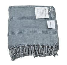 Load image into Gallery viewer, Denim Stonewashed Turkish Peshtemal Towels for the Bath, Beach, Pool, Spa or Gym