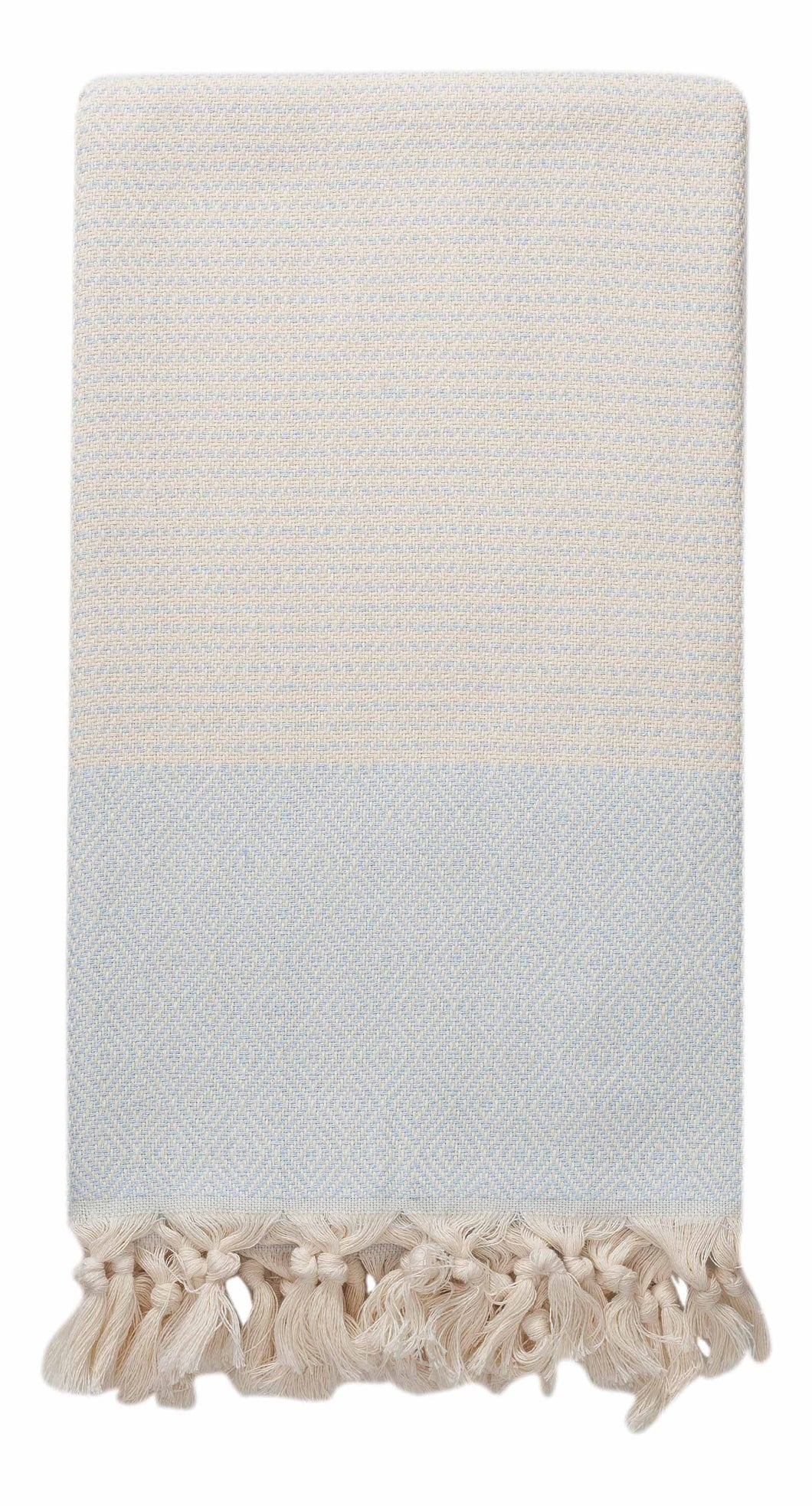Ice Blue-Grey and Cream Diamond Weave Turkish Towel