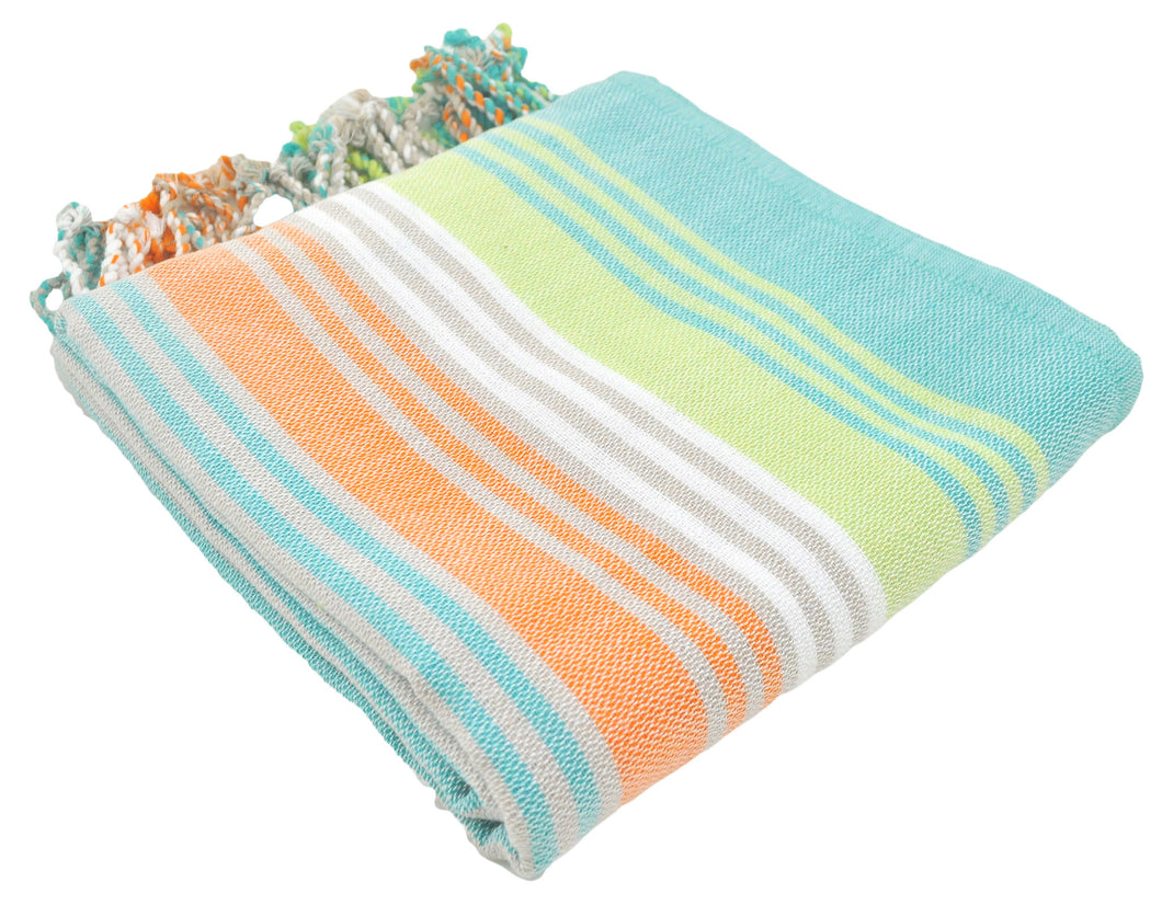Mint Variegated Turkish Peshtemal Towel