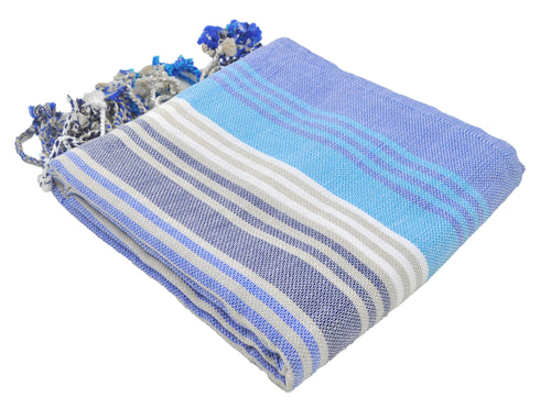 Navy Blue Variegated Turkish Peshtemal Towel