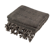 Load image into Gallery viewer, Faded Black / Charcoal Grey Stonewashed Turkish Peshtemal Towels for the Bath, Beach, Pool, Spa or Gym