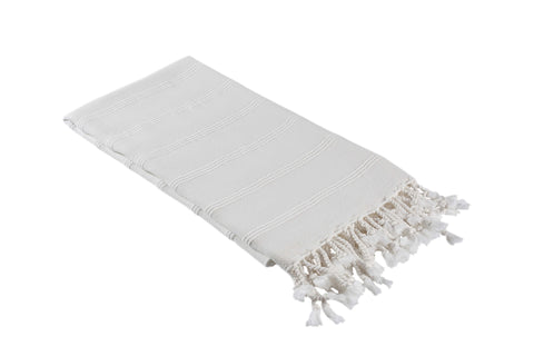 Bone White Stonewashed Turkish Peshtemal Towels for the Bath, Beach, Pool, Spa or Gym