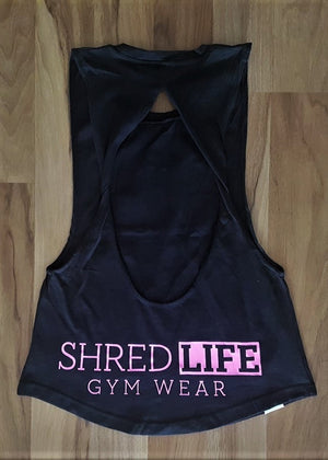 ladies exposed open back singlet humble hustle back