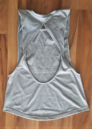 Exposed Barbells Singlet - Grey
