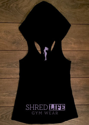Racer Singlet - Purple On Black