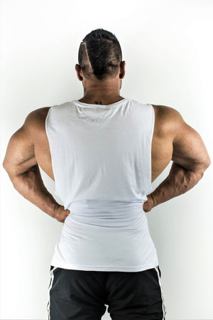 Genetics Muscle Tank - White