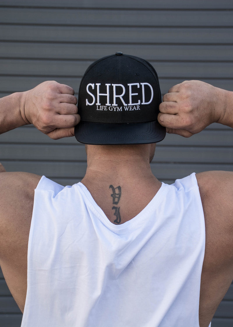 Shred Snapback Hat - Black