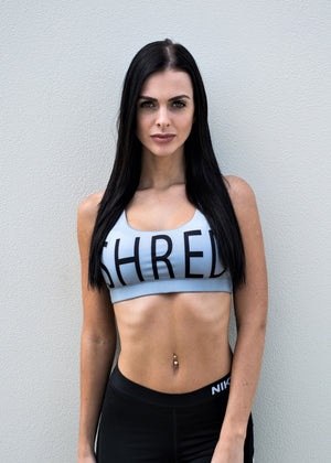 shred life sports bra grey sexy cute yoga