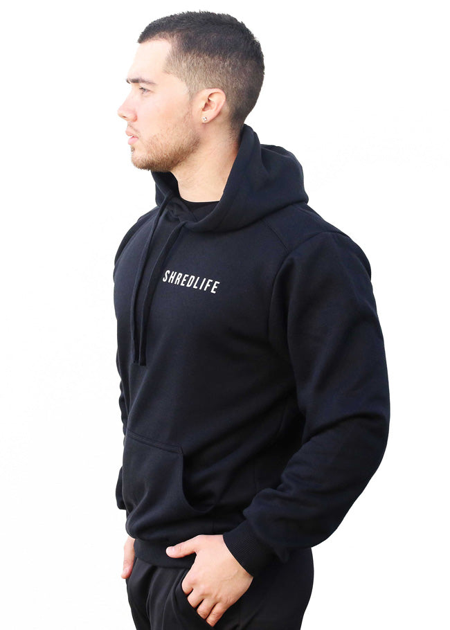 shred life lifestyle hoodie black jumper winter