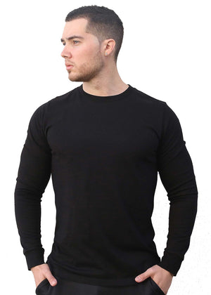shred life luxury longsleeve black shirt winter basic