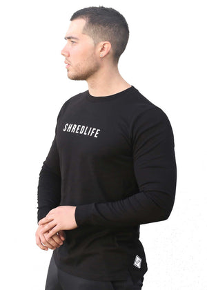 shred life luxury longsleeve black shirt winter