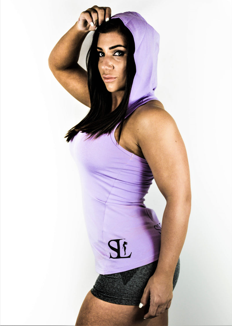 Racer Singlet - Black On Purple
