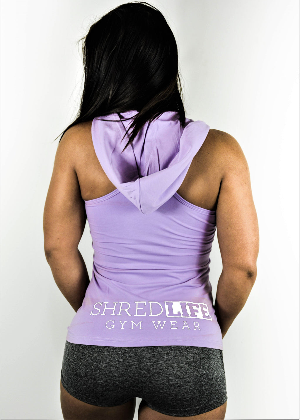 RACER SINGLET - WHITE ON PURPLE