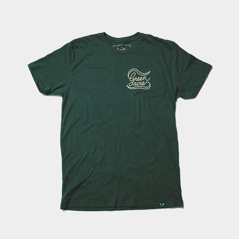 Green Acre Banner Tee - Forest Green
