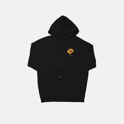 Give Your Flowers Hoodie - Black