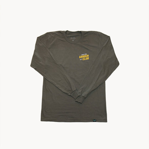 Garden Club L/S Tee - Olive Green