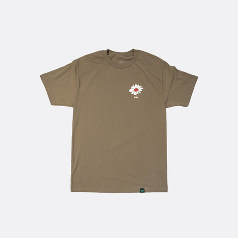 Give Your Flowers Tee - Brown