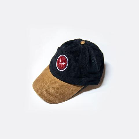 Sprout Corduroy Cap - Black/Taupe