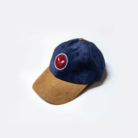 Sprout Corduroy Cap - Navy Blue/Taupe